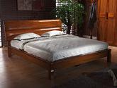 中式风格 微弧释压设计 1.8米实木大床 优质卧室家具