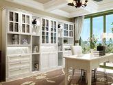 [好莱客]欧式风格  精致优美宫廷顶线 对称弧形线条设计 超储存六门书柜(订金)