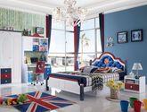 100%亚洲硬木 床底自带储物抽屉 舵盘式皮艺床屏设计 现代风格1.5米儿童床