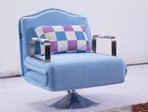 多功能全拆洗设计 柔软厚实格绒面料 不锈钢支撑脚 现代风格单人沙发