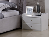 實用兩抽儲物 圓潤防撞邊角 現代風格床頭柜