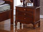 高山林场直采白杨木 圆润防撞边角设计 简约大气美式床头柜