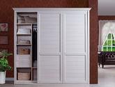 优质实木板材 简约大气现代风格定制趟门衣柜
