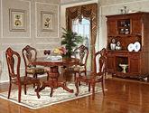 精选优质实木 结构坚固美式圆餐桌