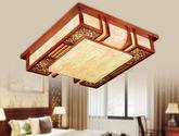 100%实木框架 优质仿羊皮灯罩 纯手工雕花 中式风格吸顶灯