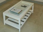 结构坚固实木框架 清新浪漫现代风格1.2米长茶几
