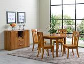 精选优质泰国进口橡胶木 结构坚固全实木圆餐桌