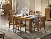 天然原木色泽 结构坚固中式实木长餐桌