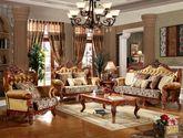 [玛龙城堡] 美式古典 品质至臻 可拆洗韩国绒背部 高织密座包 布艺U型沙发 手工镂空复古雕花沙发(1+2+3)