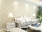 【包邮】加厚版欧式3D温馨卧室客厅田园无纺布墙纸电视背景墙A款黄色