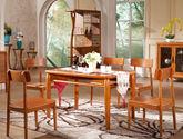 安全防撞边角 清晰原始木纹 新中式风格餐桌 实木长餐桌
