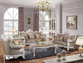 欧式高档100%桦木镂空玫瑰双面雕花奢华头层珠光牛皮尊贵璀璨水晶拉扣组合沙发(1+2+3)