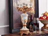 欧式复古树脂五头烛台 壁炉蜡烛台摆件 婚庆装饰品