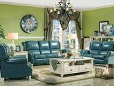 美式风格 实木高档真皮沙发 1+2+3沙发组合 优质桦木实木 头层牛皮