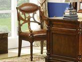 進口樺木  頭層皮  美式實木書椅 成套書桌椅 書房椅子