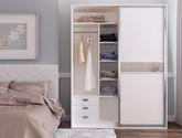 现代简约风格 百叶基材 金色时光移门衣柜定制定制衣柜定金