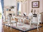 奢华罗马红仿大理石 天然亚洲硬木  立体雕花描银 欧式田园长餐桌 大理石餐台