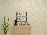 【包邮】高档欧式壁纸奢华无纺布墙纸加厚卧室客厅电视背景墙壁纸3D立体黄米灰