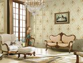 高档刺绣无缝墙布经典欧式卧室墙布客厅电视背景墙壁布