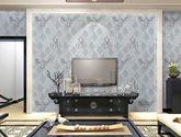 【包邮】无缝墙布 大马士革壁布无纺布 卧室客厅 壁纸 欧式简约电视墙