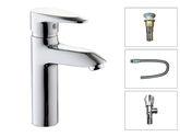 樂鵬衛浴 衛生間洗手盆單把單孔特惠水龍頭套裝銅材質