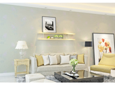 【包邮】韩式田园无纺布墙纸3d儿童房壁纸女孩卧室温馨婚房客厅电视背景墙米黄色
