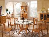 简约大气  胡桃美色新中式进口木材   餐厅组合促销优惠套餐B