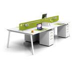 現代簡約時尚工作位 職員辦公桌 財務桌 四人對面工作位(不 含活動柜)