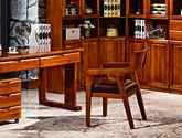 百年樹齡楠木 經典中式紋樣飾面 天然清晰木紋  真皮中式書椅