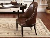 精選頭層牛皮舒適靠背 優質實木框架 新中式風格書椅