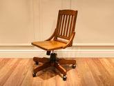 精選優質北美進口紅橡木  簡約大氣美式風格書椅