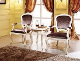 高檔舒適真絲布藝軟包 結構堅固實法式雕花書椅