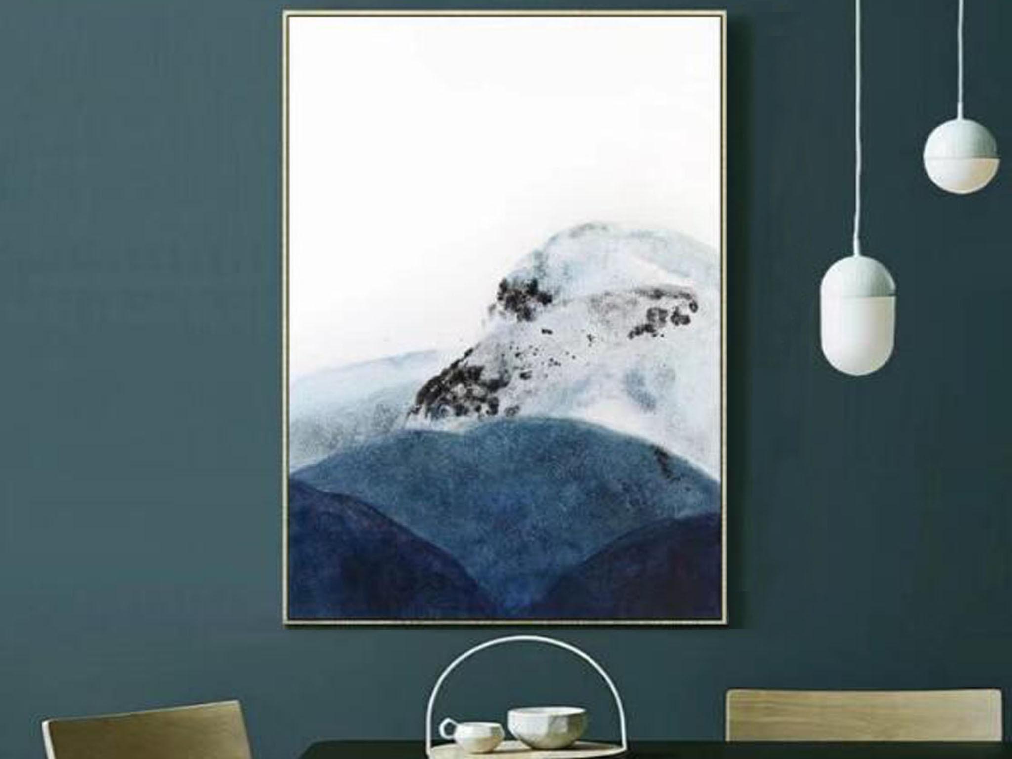 【装饰字画】手绘油画 河山 新中式风景油画 组合中式