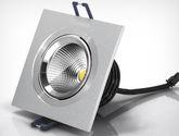 單頭COB暖黃光 嵌入式LED格柵射燈