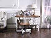 結構堅固 美式鄉村風格書椅 雙色書椅
