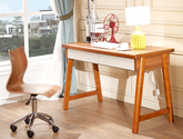 簡約時尚胡桃色  人體工學靠背 北歐風格 堅固耐用轉椅 書椅