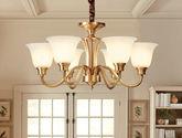 美式全銅吊燈客廳燈美式燈具餐廳復古全銅大氣臥室全銅燈
