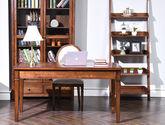 北美進口黃楊木 透氣麻布軟包 美式風格書椅