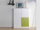 恩嘉依 現代風格 時尚雙色接拼設計 E1級MDF板材 多格層儲物空間 實用兩門鞋柜