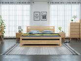 堅韌耐用橡膠木 日式風格1.5米床(原木色)