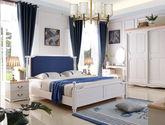 泰国橡胶木双人床 实木1.8米单床 软包款