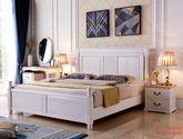 全實木雙人床 橡膠木1.8米單床