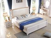 实木双人床 橡胶木1.8米单床 软包款